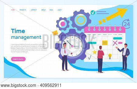 Time Management, Organizing Effective Time, Website Concept, Planning Dates, Business Meetings, Busi