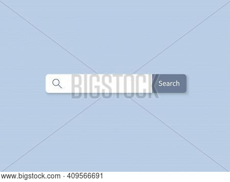 Search Bar. Blank Internet Searching Field. String Entering Keywords For Online Finding Information.