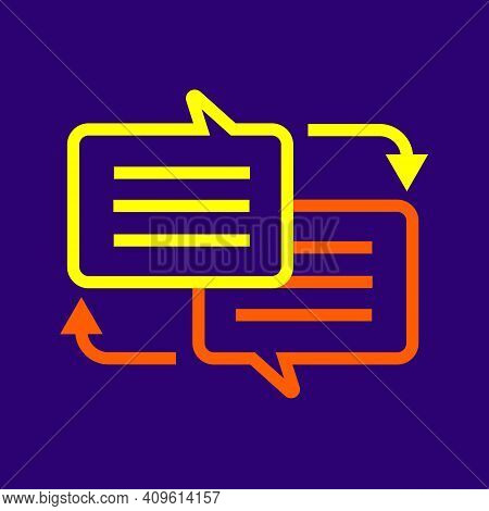 Vector Of Translate Icon Logo. Flat Writing Translate Or Interpret Icon For Web Design.