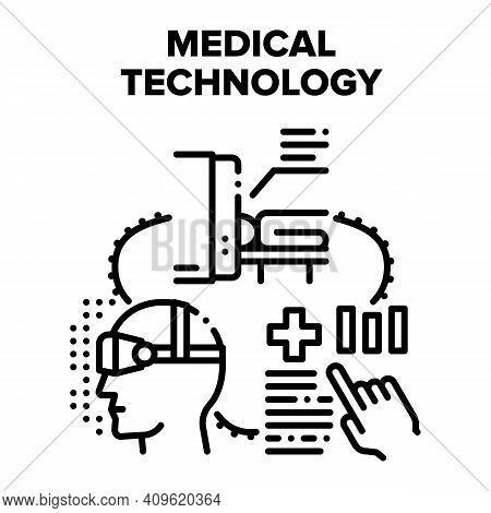 Medical Technology Hospital Vector Icon Concept. Mri Magnetic Resonance Imaging And Eye Vision Measu