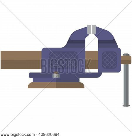 Clamp Tool Icon Flat Vector Isolated On White Background
