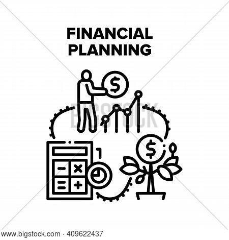 Financial Planning Economy Vector Icon Concept. Financial Planning Advising And Consultation, Financ