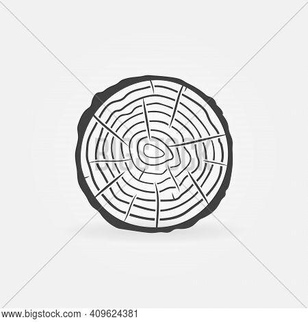 Trunk Slice With Tree Rings Vector Concept Icon Or Sign