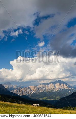 Landscape near Passo Giau in Dolomites, Italy