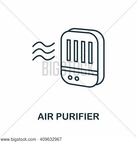 Air Purifier Icon. Simple Element From Personal Hygiene Collection. Creative Air Purifier Icon For W