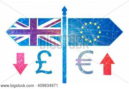 Image Relative To Politic Situation Between Great Britain And European Union. Politic Process Named