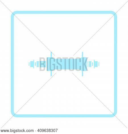 Bike Hub Icon. Blue Frame Design. Vector Illustration.