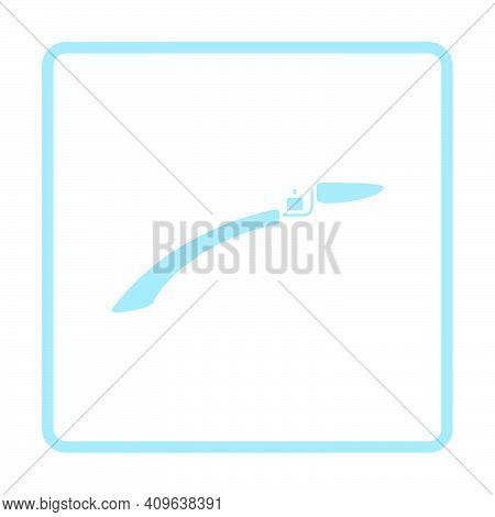 Bike Fender Icon. Blue Frame Design. Vector Illustration.