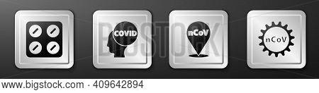 Set Pills In Blister Pack, Corona Virus Covid-19, Corona Virus 2019-ncov On Location And Corona Viru