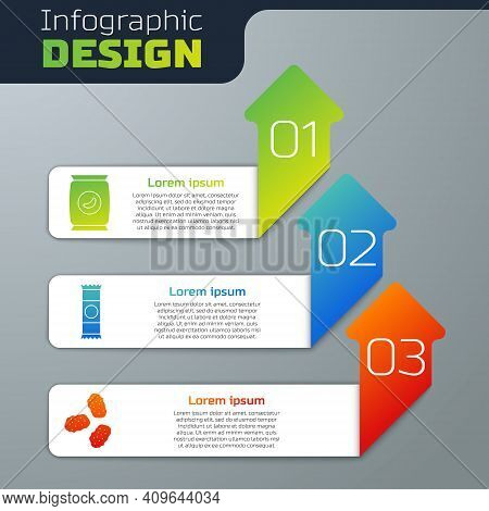 Set Bag Or Packet Potato Chips, Chocolate Bar And Chicken Nuggets. Business Infographic Template. Ve