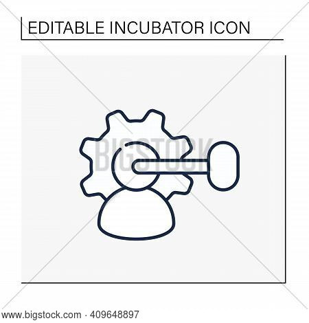 Intellectual Property Management Line Icon. Maximizing Profitability. Protection Of Intangible Creat