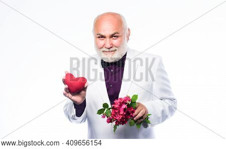 True Gentleman. Well Groomed Handsome Bearded Man Wear Tuxedo. Senior Gentleman Romantic Soul. Man H