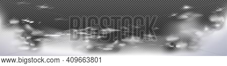 Cloud Range. Vector Cloud Range, Realistic Illustration, Cloud Vector Range. Realistic Background