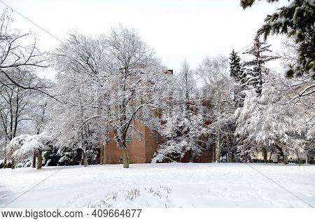 Sofia, Bulgaria - January 27, 2021: The Garden Next To The Medieval Church Of  Saint Sofia, Dating T