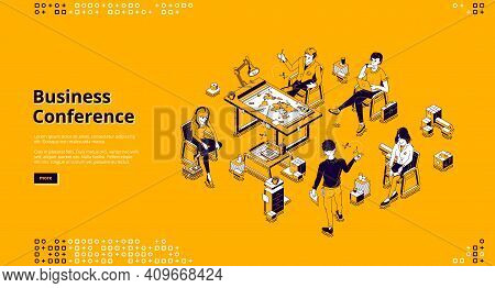 Business Conference Banner. Training, Seminar And Meeting For Professional Learning And Communicatio