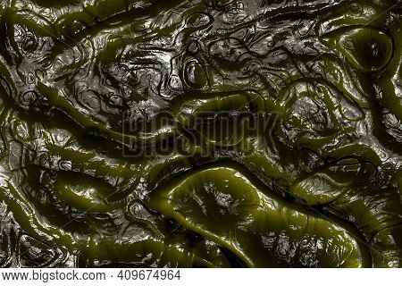Creative Beautiful Yellow Organic Nightmare Relief Digital Art Texture Or Background Halloween Illus