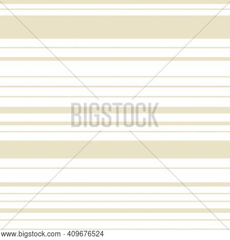 Striped Seamless Pattern. Hand Drawn Beige Lines, Decor Textile, Geometrical Ornament. Abstact Simpl