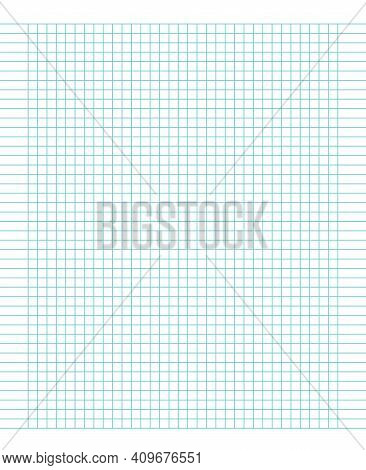 Grid Paper. Abstract Squared Background With Color Lines. Time Management Concept. Pattern For Schoo