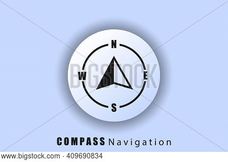 Compass Icon, Logo, Navigator Arrow Icon, Navigation Technology, Geolocation, Gps Navigator Cursor.