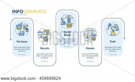 Ways To Declutter Things Vector Infographic Template. Donate And Recycle Presentation Design Element
