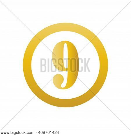 Number 9 Icon Vector. Number 9 Icon Isolated On White Background. Number 9 Icon Simple And Modern.