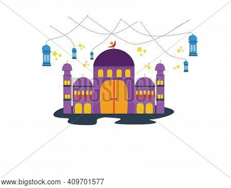 Mosques Are Places Of Worship For Muslims Throughout The World.the Concept Of The Vector Is That The
