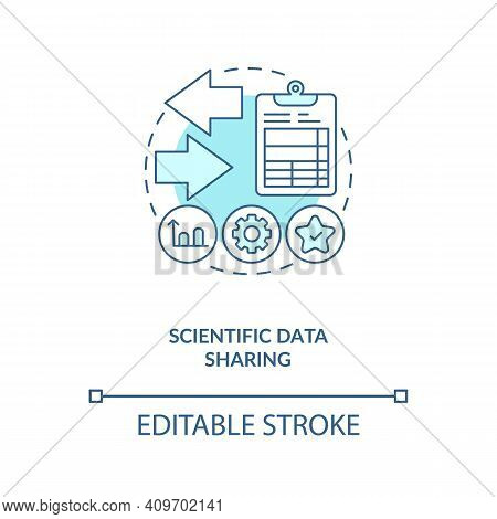 Scientific Information Sharing Concept Icon. Publishing Studies In Conferences Idea Thin Line Illust