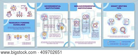 Research Funding Guidelines Brochure Template. Government Institutions. Flyer, Booklet, Leaflet Prin