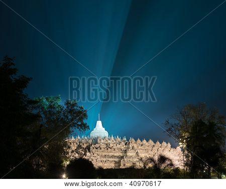 Borobudur Temple At Night