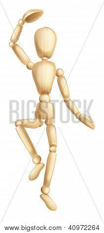 Wooden Man Dancing