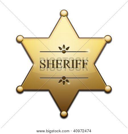 Estrela dourada de xerife