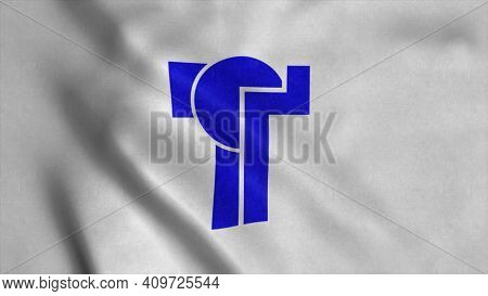 Flag Of Tempe, City Of Arizona, United States Of America. 3d Illustration.