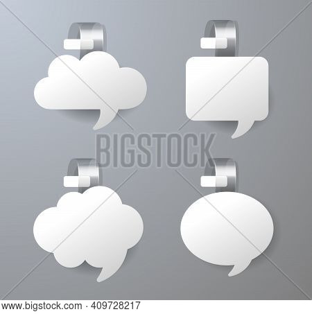 Blank Supermarket Promotional Wobblers. Discount Promotion Tag For Shelf In Supermarket. Sale Or Dis