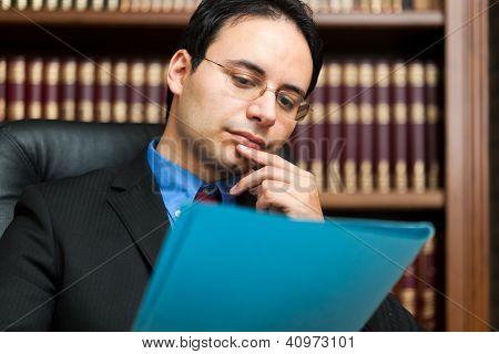 Businessman in his studio