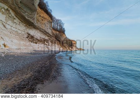 Sunset In Beach Of Stevens Klint Denmark Scandinavia Europe