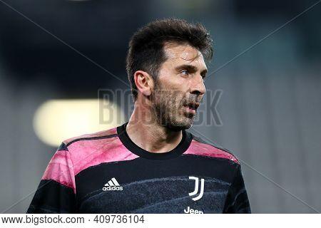 Torino, 22th February 2021. Gianluigi Buffon Of Juventus Fc  During The Serie A Match Between Juvent