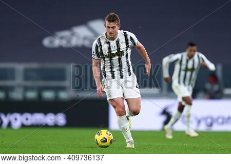 Torino, 22th February 2021. Matthijs De Ligt Of Juventus Fc  During The Serie A Match Between Juvent