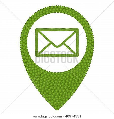 Four Leaf Clover Of Envelope In Navication Icon