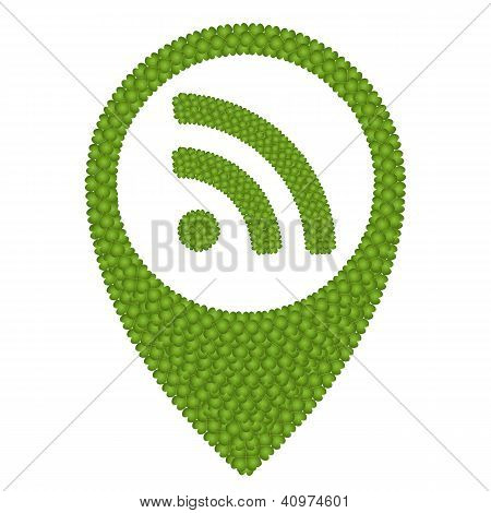 Four Leaf Clover Of Rss Sign In Navication Icon