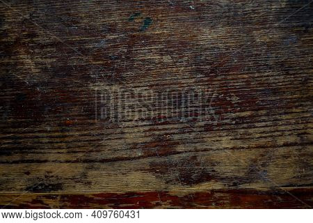Natural Wood Texture Background. Almond Tree Wood Grained Texture. Dark Wooden Background. Old Scrat