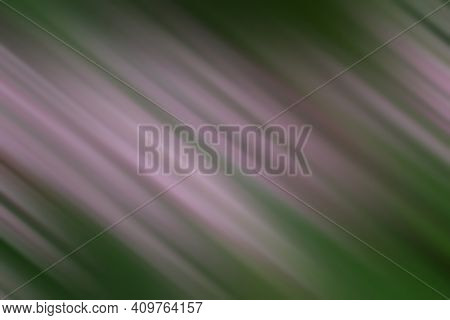 Blur Abstract Illustration Background Of Pink Brushed With Slanted Lines On Green. Pink And Green Ab