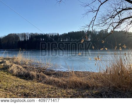 Late Winter And Early Spring On The Türler Lake Or Türlersee Lake (tuerlersee Oder Turlersee), Aeugs