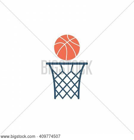 Basketball Hoop Vector Icon. Basketball, Basket Icon. Symbol, Logo Illustration. Perfect Vector Grap