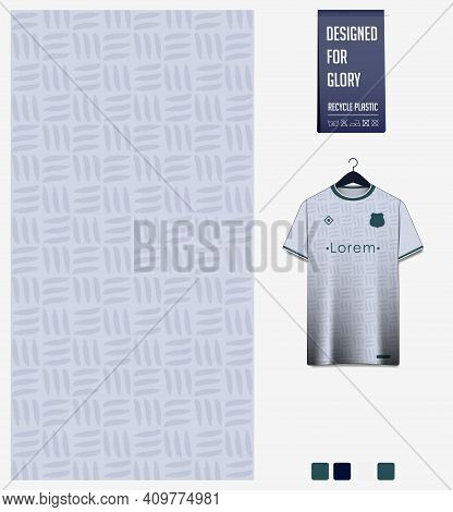 Fabric Pattern Design. Abstract Pattern On Gray Background For Soccer Jersey, Football Kit, Bicycle,