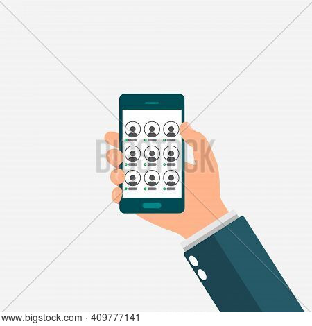 Hand Holding Smartphone With Clubhouse Interface. Room Of Clubhouse App. Audio Chat. Social Media Wi
