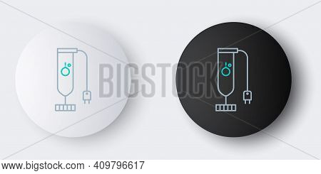Line Blender Icon Isolated On Grey Background. Kitchen Electric Stationary Blender. Cooking Smoothie