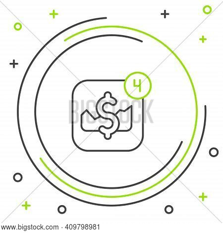 Line Mobile Stock Trading Concept Icon Isolated On White Background. Online Trading, Stock Market An