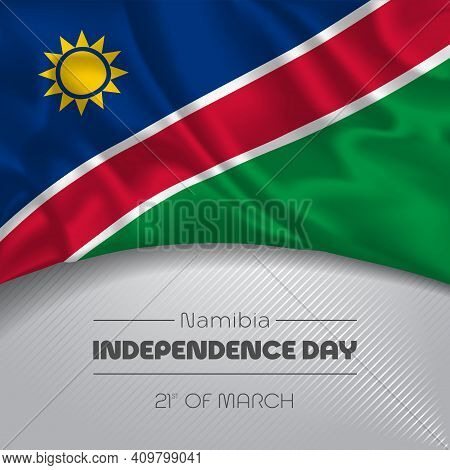 Namibia Happy Independence Day Greeting Card, Banner Vector Illustration