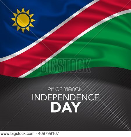 Namibia Happy Independence Day Greeting Card, Banner, Vector Illustration