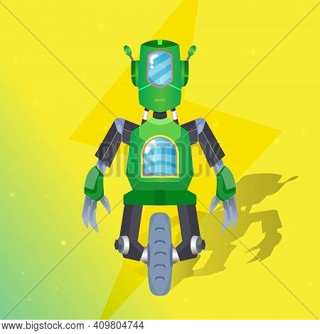Mechanical Wheeled Robot Explorer Graphic Can Use For Tshirt Design